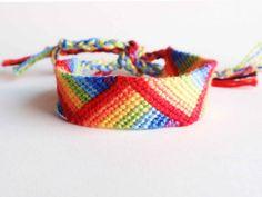 Rainbow friendship bracelet, rainbow stripes bracelet, colorful (made to order)