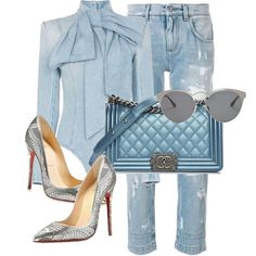Classy Outfits, Chic Outfits, Trendy Outfits, Fall Outfits, Fashion Outfits, Womens Fashion, Fashion Trends, Denim Outfit, Denim Fashion