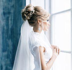 Bruidskapsel opgestoken plus sluier