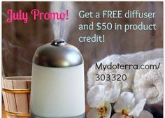 Get a FREE Difusser and $50 in Product: Essential Oils fro doTerra. Then, Green Living Ladies Team has some FREE incentives gifts when you join our team. that's not all! Malika Bourne set a crazy goal for July. Call Malika Bourne doTerra asap after you have read this link. HURRY! Offer expires soon!