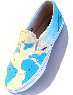 Map Custom Shoes by StoryShoe on Etsy, $70.00