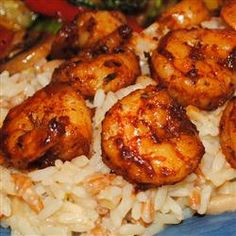Cajun Shrimp Allrecipes.com  This was fast, easy and had great flavor.  I made rice seasoned the same and the meal was AMAZING!!!!!