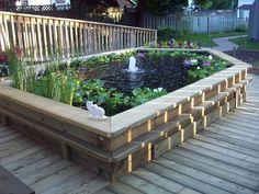 Patio pond ideas by raised garden fish ponds backyard design ideas.