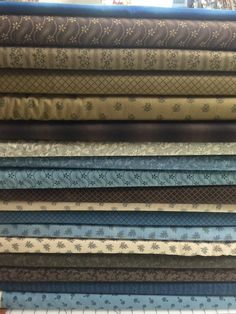 Union Blues Fat Eighth Moda Fabric Bundle Barbara Brackman by KimberlysFabricStash on Etsy