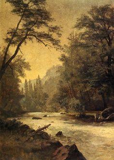 The Athenaeum - Lower Yosemite Valley (Albert Bierstadt - )