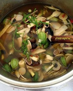 Thai food: Tom Nor (Northern Thai Style of Bamboo Shoot Soup)
