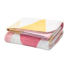 IKEA - STILLSAMT, Blanket, , Nice and soft against the skin – perfect for cozy times on the sofa or to sit on during the family picnic.Fleece is an easy-care material that you can machine wash. No need to iron afterwards!