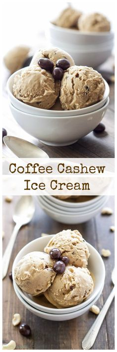 Coffee Cashew Ice Cream | You'll never suspect this Coffee Cashew Ice Cream is dairy-free and vegan!
