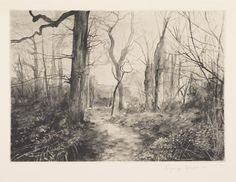 George Shaw - from the series '12 Short Walks.' Etching