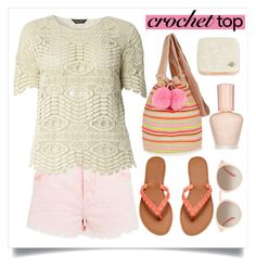 """""""Cute Crochet Top"""" by alaria ❤ liked on Polyvore featuring Dorothy Perkins, Sophie Anderson, Paul & Joe, GlassesUSA, contestentry and crochettop"""