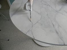 DIY. Painting that looks like marble.