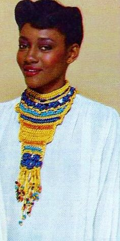Egyptian Gold Body Ornament Statement Necklace Retro Boho Vintage PDF Crochet Pattern by MomentsInTwine on Etsy