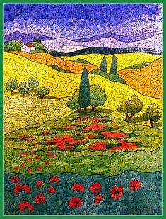 beautiful eggshell mosaic designs by Lyubov Meshakina More