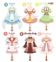 [CLOSED] Dessert Theme Outfit Adoptable#6 by Black-Quose.deviantart.com on @DeviantArt