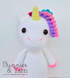 Patrón de Crochet Mimi El Unicornio Amigable por BunniesandYarn