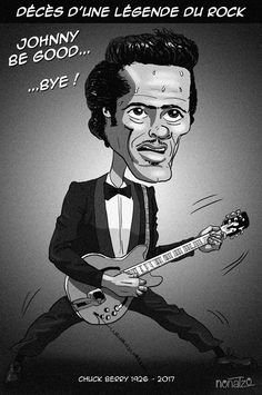 Chuck Berry 1926-2017 - RIP Chuck Berry, Berries, Joker, Events, Fictional Characters, Facebook, Art, Berry, Kunst