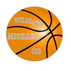 Basketball Wall Decal Custom Name Personalize Sports Teams School Peel and Stick
