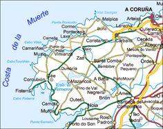 Costa de la Muerte - Mapas - Hoteles - Costa da Morte - La Guia turistica
