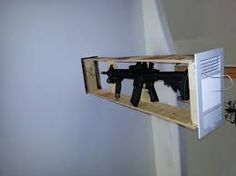 hidden gun ceiling mount, looking for pic posted here - : and Off-Road Forum Hidden Gun Storage, Water Storage, Gun Closet, Hiding Spots, Shoe Rack, Floating Shelves, Track Lighting, Man Cave, Blinds