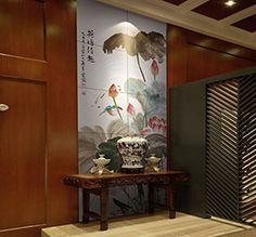 Papier peint chinois noir et blanc paysage avec les - Decoration asiatique dans linterieur moderneidees inspirantes ...