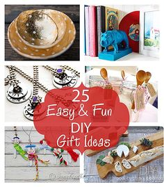 There is always time for a last minute handmade Christmas gift. Here are 25 ideas anyone can do for DIY Xmas gifts. Via http://www.songbirdblog.com