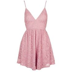 Dress by Oh My Love ($56) ❤ liked on Polyvore featuring dresses, short dress, nylon dress, pink fit and flare dress, skater dress, nylon skater dress and pink dress
