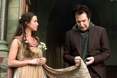 """1999 - """"Dogma"""" ... Alanis Morissette, who played God, and Alan Rickman who played the Metatron, aka, """"The Voice of God."""" Except for all the profane language, I love this movie."""