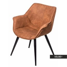 Krzesło Lord brązowe jasne Sit Back And Relax, Accent Chairs, Lord, Furniture, Design, Home Decor, Upholstered Chairs, Decoration Home, Room Decor