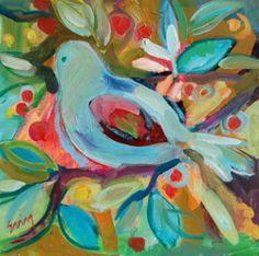 bird paintings - paintings by erinfitzhugh gregory