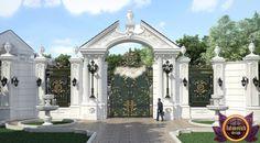 Best Exteriors in the world Home Gate Design, Front Wall Design, Fence Gate Design, Entrance Design, Classic House Exterior, Classic House Design, Compound Wall Design, Modern Villa Design, Facade Architecture