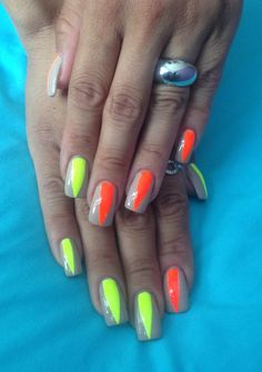 Neon nails summer 2013