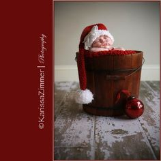 newborn christmas photography idea