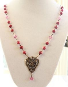 Vintage St. Therese necklace. Beautiful!