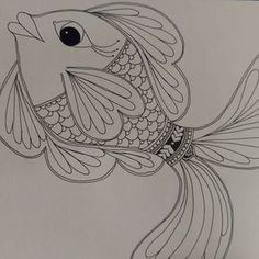 Embroidery Designs For Kids Paint 48 Ideas Art Drawings Sketches Simple, Fish Drawings, Outline Drawings, Pencil Art Drawings, Cool Drawings, Drawing Ideas, Madhubani Art, Madhubani Painting, Peacock Painting