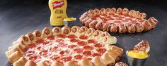 Pizza Hut's newest creation is a pizza with a 28-hot dog crust