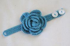 Rose Crochet Bracelet