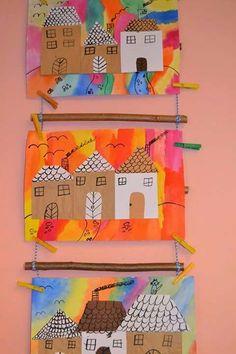 Decorando com os desenhos da criançada Projects For Kids, Art Projects, Crafts For Kids, Kindergarten Art, Preschool Crafts, 2nd Grade Art, Art Classroom, Elementary Art, Teaching Art