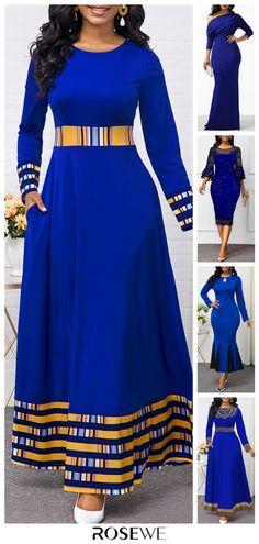 Dresses For Women Blue Dresses For Women, Latest African Fashion Dresses, African Dresses For Women, African Print Fashion, African Attire, Women's Fashion Dresses, Modern African Dresses, Ankara Fashion, Africa Fashion