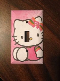 Cute Pink Hello Kitty Light Switch Cover