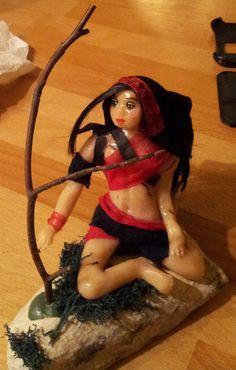 OOAK Figur Gothic, Fairy, Fee -Handmade von Figurenmagie auf DaWanda.com