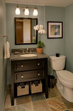Floor and wall color. Hate the vanity and counter choice. Better for after baby comes.                                                                                                                                                                                 More