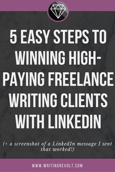 This is the COMPLETE guide to LinkedIn for freelance writers. LinkedIn has been one of my biggest sources of freelance writing clients, and this post shows you exactly how I use it! Check it out! :)