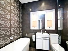 Perfect interior design with cute wallpaper for a small space