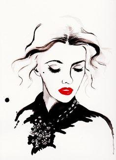 Glamour Print of Original Fashion Illustration by Talula Christian