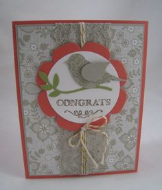 Something Borrowed DSP and Bird Builder Punch -Stampin' Up by Miechelle Weber