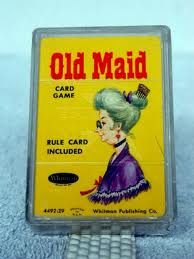 Old Maid...me oh my...the memories of playing with this same deck of cards..so simple..yet don't you know the  creator made a bundle on this invention!