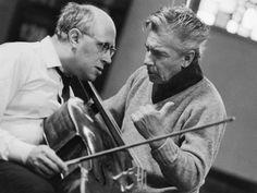 Rostropovich y Karajan