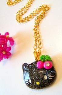 black Hello Kitty necklace FREE-SHIPPING