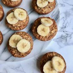 Bagt havregrød muffins med æble og peanut butter   Morgenmad   Food Salute