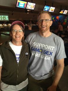 I Support Same Sex Marriage shirt spotted in North Carolina during the 2012 #HRC Bowling for Equality event. #HRC #humanrightscampaign #LGBT #equality #gayrights #samesexmarriageinamerica #supportsamesexmarriage #marriageequality